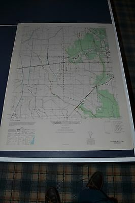 1940's Army topo map Beaumont West Texas Sheet 7144 II SW
