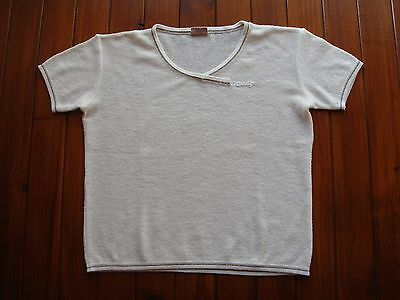 Courreges Vintage White Top Pullover Size M-L / Jersey Blanco Manga Corta