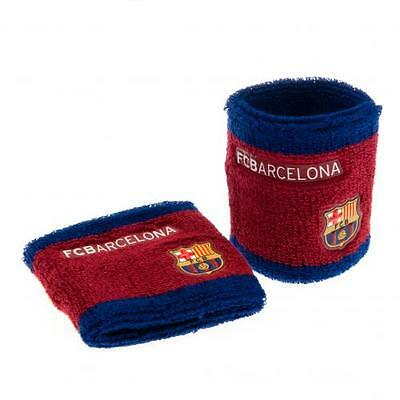 FC Barcelona Wristbands Sweatbands 2 Pack Gift Fan Official Licensed Product