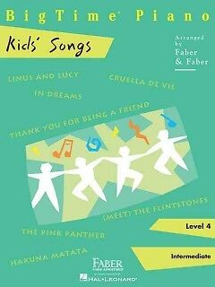 BigTime Piano Kids' Songs, Level 4 - NEW - 9781616776299 by Faber, Nancy (ADP)/