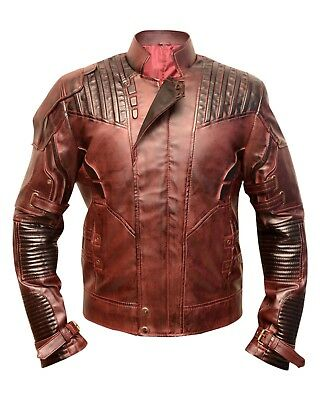 Star Lord Guardians Of The Galaxy Vol. 2 Chris Pratt Real Leather Jacket Costume
