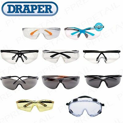 QUALITY DRAPER SAFETY GLASSES/SPECTACLES/SPECS/GOGGLES Anti-Mist/Scratch Tint UV