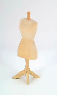 1:12th Plain Wooden Tailors Dummy Dolls House Dress Making Mannequin Accessory