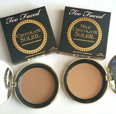 Too Faced Milk Chocolate soleil & Chocolate soleil bronzer 10g 100% Geniune BNIB