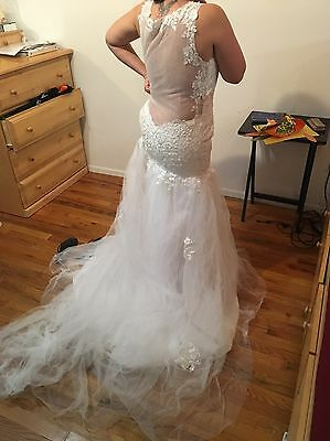 New White/ivory Wedding Dress Bridal Gown Custom Size: 6 8 10 12 14 16++++