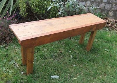 Old Rustic Antique Vintage Wooden Farmhouse Bench Pig Bench