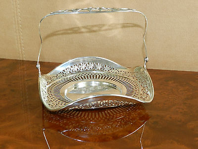 Lovely Webster Co Sterling Pierced Sterling Basket With Handle