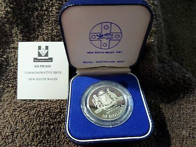 1987 New South Wales Silver PROOF $10 Australian State Series