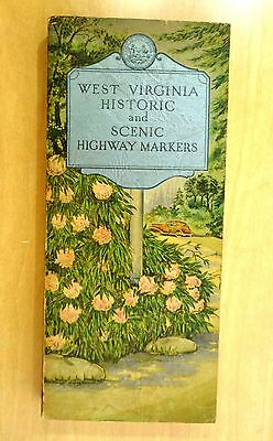 WEST VIRGINIA HISTORIC and SCENIC HIGHWAY MARKERS 1937 Guide Book with Index