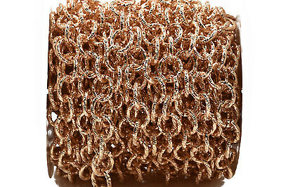 1yd Lt Gold BRASS Cable Chain, 11mm Round Links unsoldered, Rope fch0466a
