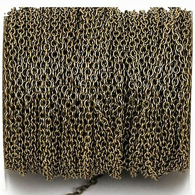 1yd Bronze Cable Chain, Oval Links 2.5x2mm unsoldered, fch0250a