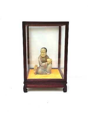 Antique Chinese Carved Soapstone Figure of an Immortal