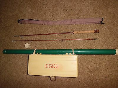 Vintage Ambercrombie & Fitch Banty 1 oz Spin Rod w/ Tackle Box & Rod Tube