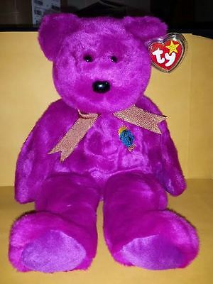 Ty Beanie Buddies Millennium Bear 2000 Large 14 Inch Plush Stuffed Animal 1999