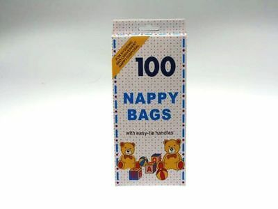 24 x Nappy Bags disposable baby 100 value pack easy tie Bulk Wholesale Lot