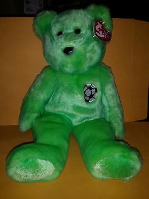 Ty Beanie Buddies Kicks Bear Large 14 Inch Plush Stuffed Animal 1999