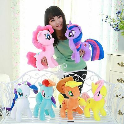 "2017 My Pony Horse Toys 9"" &16"" Plush Soft Bed Sofa Teddy Doll Toy birthday gift"