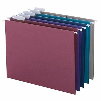 Smead Hanging File Folder A4 Adjustable Tab Jewel Tone 25pcs Document Office NEW