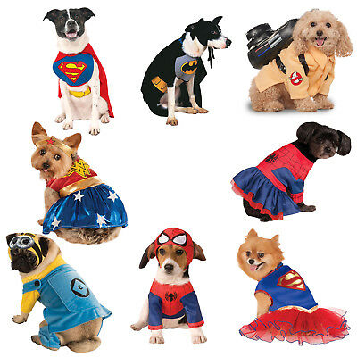 Rubies Official Superhero Dog Fancy Dress Costume Animal Halloween Pet Outfit