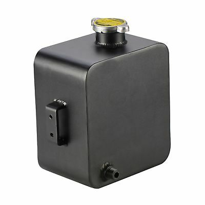 Universal 2L Aluminium Alloy Water Coolant Header Overflow Expansion Tank Black