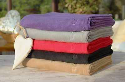 Clair de Lune Fleece Baby Blanket - Purple, Red, Sand and Slate
