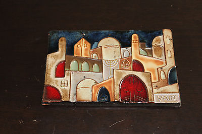 Vintage Tile Yair Jerusalem And Her Three Religions