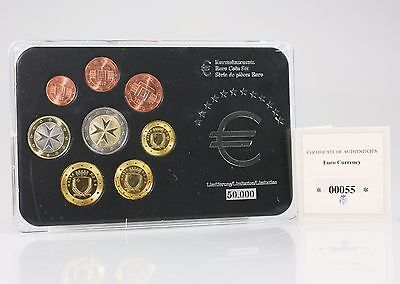 2008 MALTA Euro Coin Set Uncirculated Limited Edition with Certificate (GZ110)