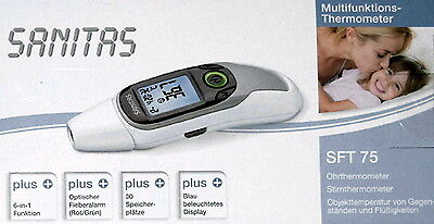 Sanitas SFT 75  Multifunktions Thermometer Stirnthermometer Ohr Baby Kind  FT75