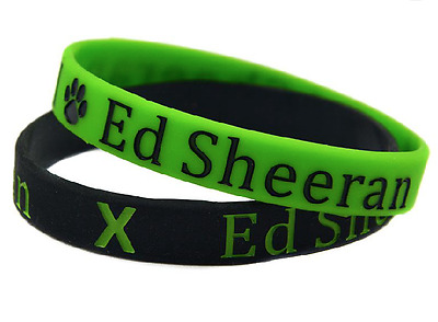 ED SHEERAN Silicone Wristband Green Black with Paw Logo