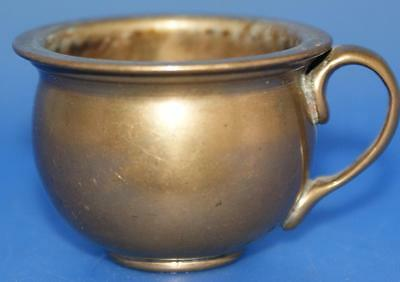Antique Brass or Bronze  Miniature Cup Possibly Oriental