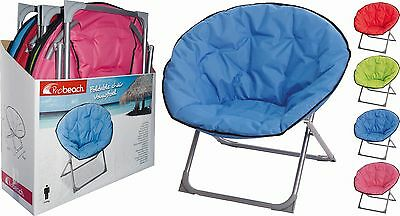 Foldable Large Full Size Moon Chair Camping Garden Fishing Beach Chair Lounger