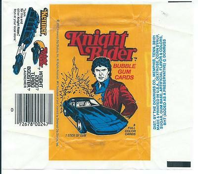 Knight Rider Trading Card Wax Wrapper Vintage Donruss 1982