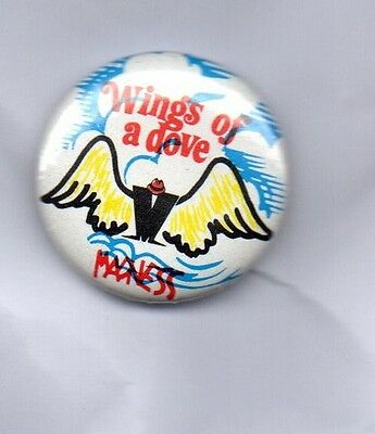 MADNESS Wings Of A Dove BUTTON BADGE - UK SKA / 2-TONE  UK BAND - SUGGS 25mm Pin
