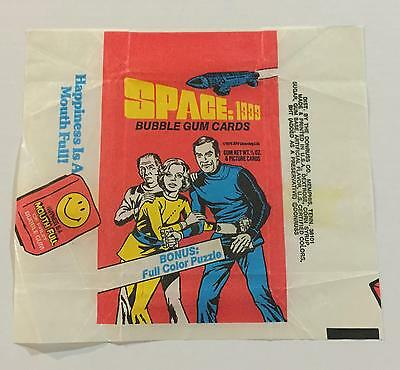 Space : 1999 Trading Card Wax Wrapper Vintage Donruss 1976