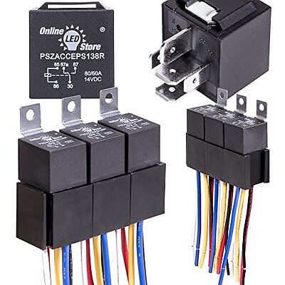 Pleasant 5 Pack 12V 60 80 Amp Relay Switch Harness Set 5 Pin Spdt Automotive Wiring Cloud Hisonuggs Outletorg
