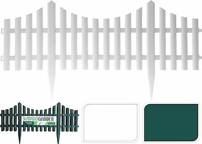 4x60cm Plastic Garden Lawn Grass Edging Picket Border Fence FlexibleInterlocking