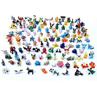 120 Mixed Pokemon Pikachu Monster Mini Random Pearl 2-3cm Action Figures Toys PK