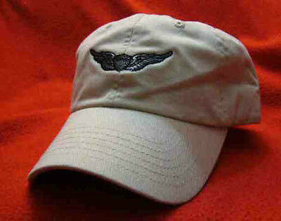 Army Aviator - Basic Pilot Wings Ball Cap, low-profile embroidered hat - stone