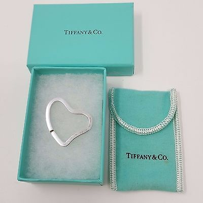 Tiffany & Co Sterling Silver 925  Elsa Peretti Heart Keychain