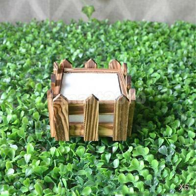 6x Mini Fence Artificial Flower Holder Garden Craft Foam Flower Pot Simple 10cm