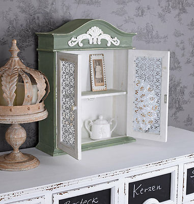 Wandregal Landhausstil Wandschrank Ablage Shabby Chic