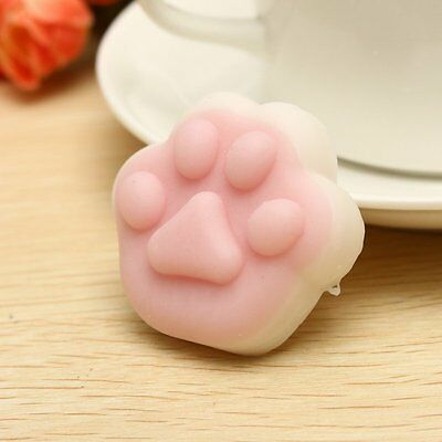 Mochi Squishy Toy Squeeze Cat Paw Comfort Toy Stress Reliever Animated Character