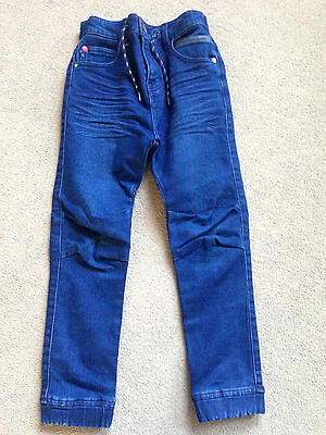 BNWT NEXT Boys Dark Blue Jogger Style Jeans 8 Years