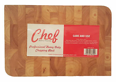 Chef Professional Heavy Duty Wooden Chopping Block Board R.R.P £39.99