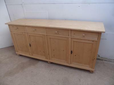 A Wonderful large Reclaimed Pine4 Door 2 Metre Kitchen Dresser Base to Wax/Paint