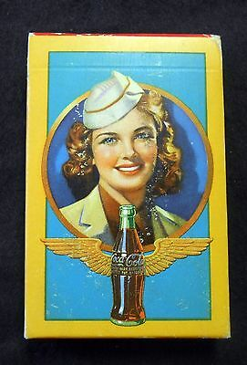 Original Coca Cola Vintage Stewardess Playing cards 1943 Never opened!