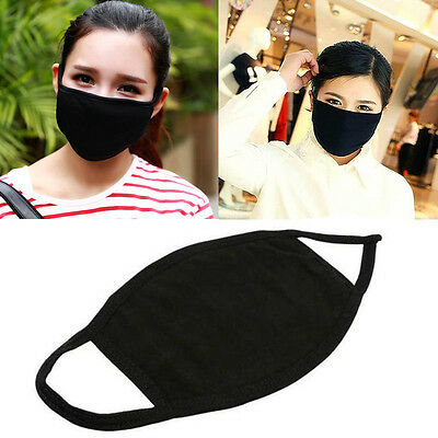 New Unisex Mens Womens Cycling Anti-Dust Cotton Mouth Face Mask Respirator Black