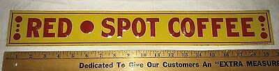 Antique Red Spot Coffee Tin Litho Embossed Can Sign American Art Works Coshocton