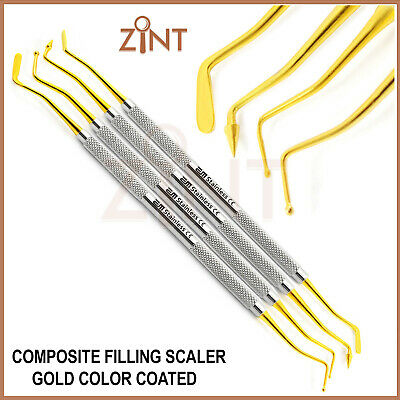 Set Of 4 Composite Filling Placement Tools Amalgam Dental Laboratory Instruments