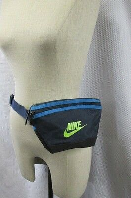 VINTAGE 90's NIKE FANNY PACK WAIST POUCH BLUE NEON GREEN